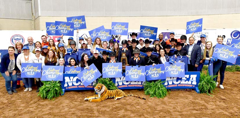 Auburn University repeats as NCEA National Collegiate Equestrian Champions. (Andrew Ryback photo)