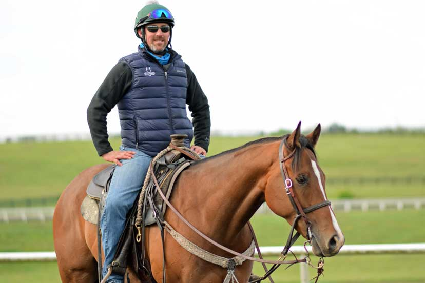 Youth Racing Experience graduate Destin Heath now trains world class Thoroughbreds at WinStar Farm in Kentucky. Destin is pictured here sitting on his pony horse A Runaway Act, aka