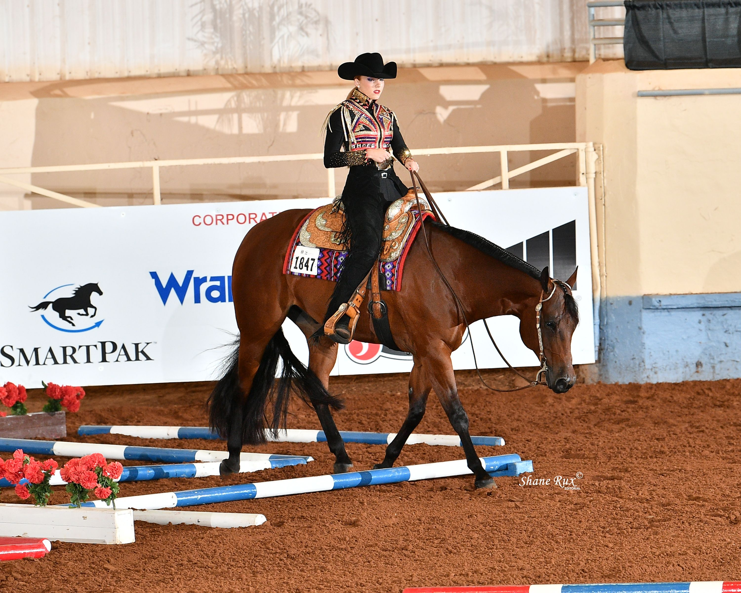 Chilln Ona Dirt Road and Klair Merrell were named Level 2 champions in youth trail at the 2020 Built Ford Tough AQHYA World Championship Show.